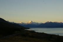 Mt Cook, vue depuis un lookout au crépuscule